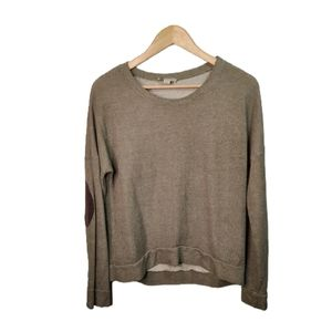 Bershka Crew Neck Sweater Elbow Patch L